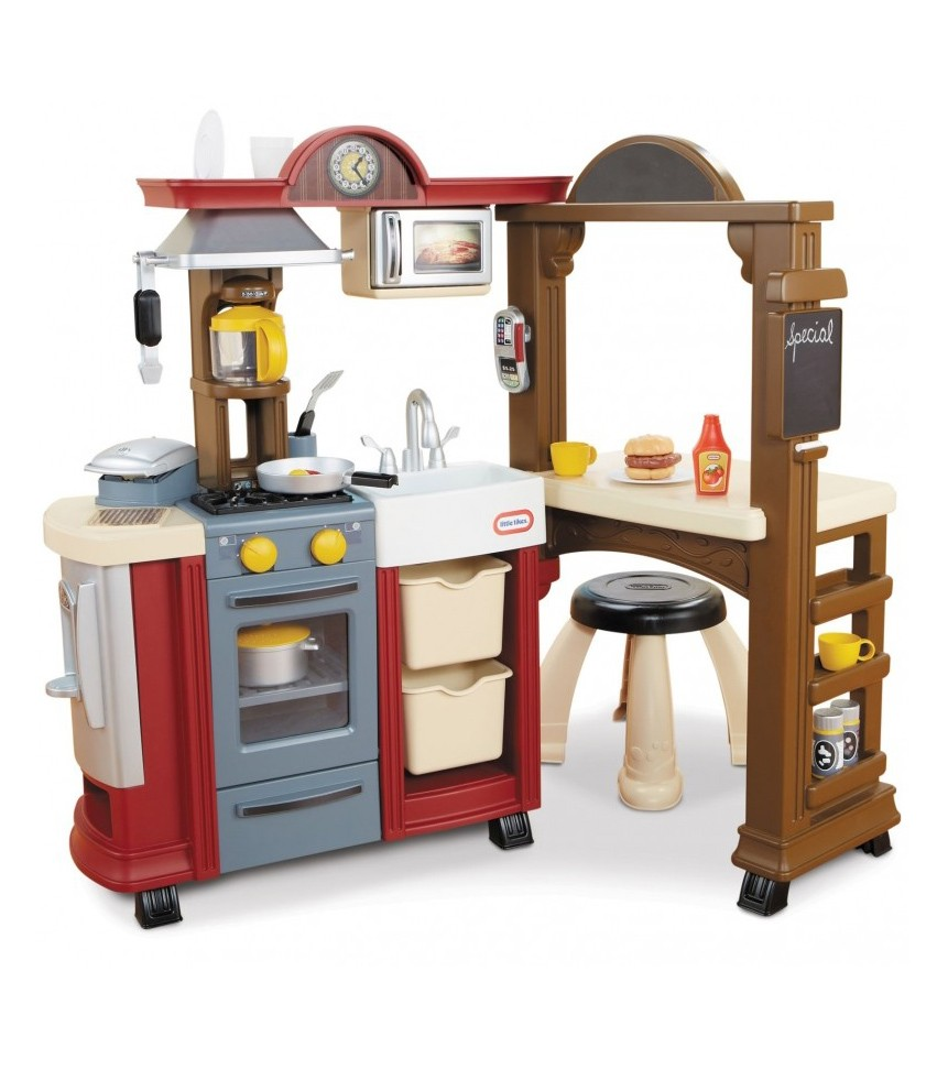 Little tikes kitchen restaurant 485121 homegeeks for Small kids kitchen