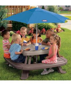 Little Tikes Fold and Store Picnic Table with Umbrella