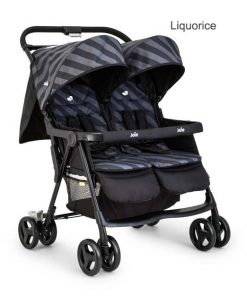 Joie Aire Twin Liquorice pushchair