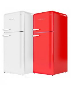 EuropAce 115L 2 doors retro fridge ER3891S
