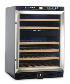 EuropAce 46 bottles dual zone wine cooler EWC6460S side view