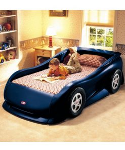 Little Tikes blue sports car twin bed