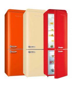 EuropAce 359L 2 doors retro fridge ER9360S