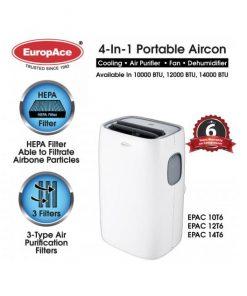 EuropAce Portable aircon EPAC 10T6 12T6 14T6