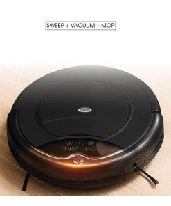 EuropAce Robotic Vacuum with Mop black ERV3031T