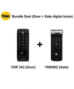 Yale YDR343 and YDR50GA Door and Gate Digital Locks Bundle Deal
