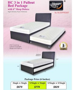 Sleepy Night 3-in-1 Pullout Bed Package